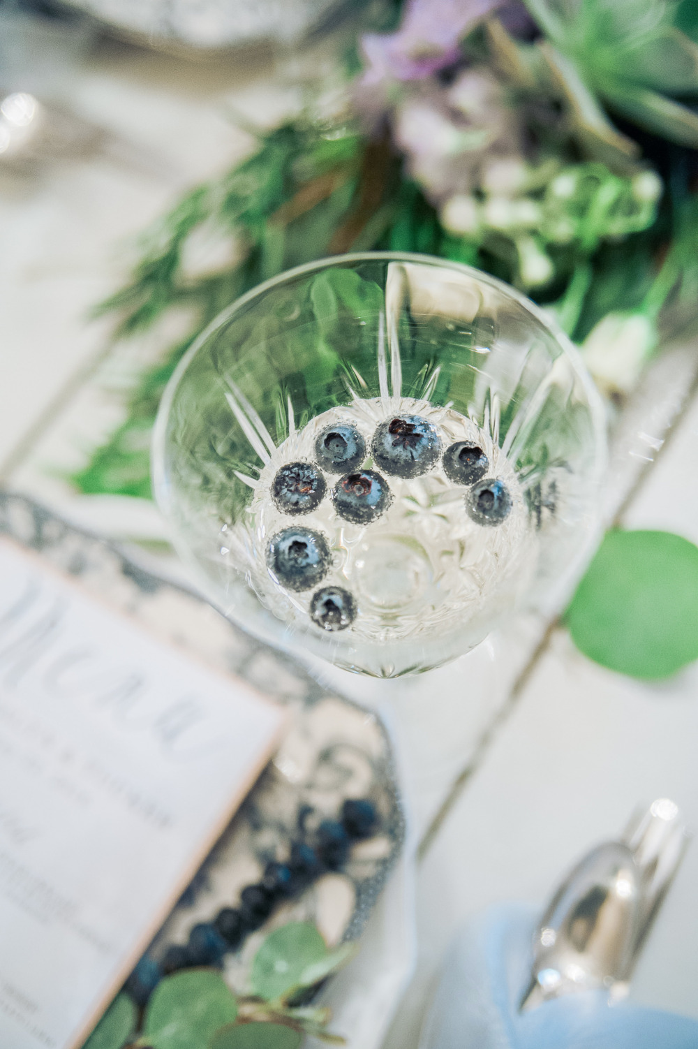 blueberry champagne wedding drink