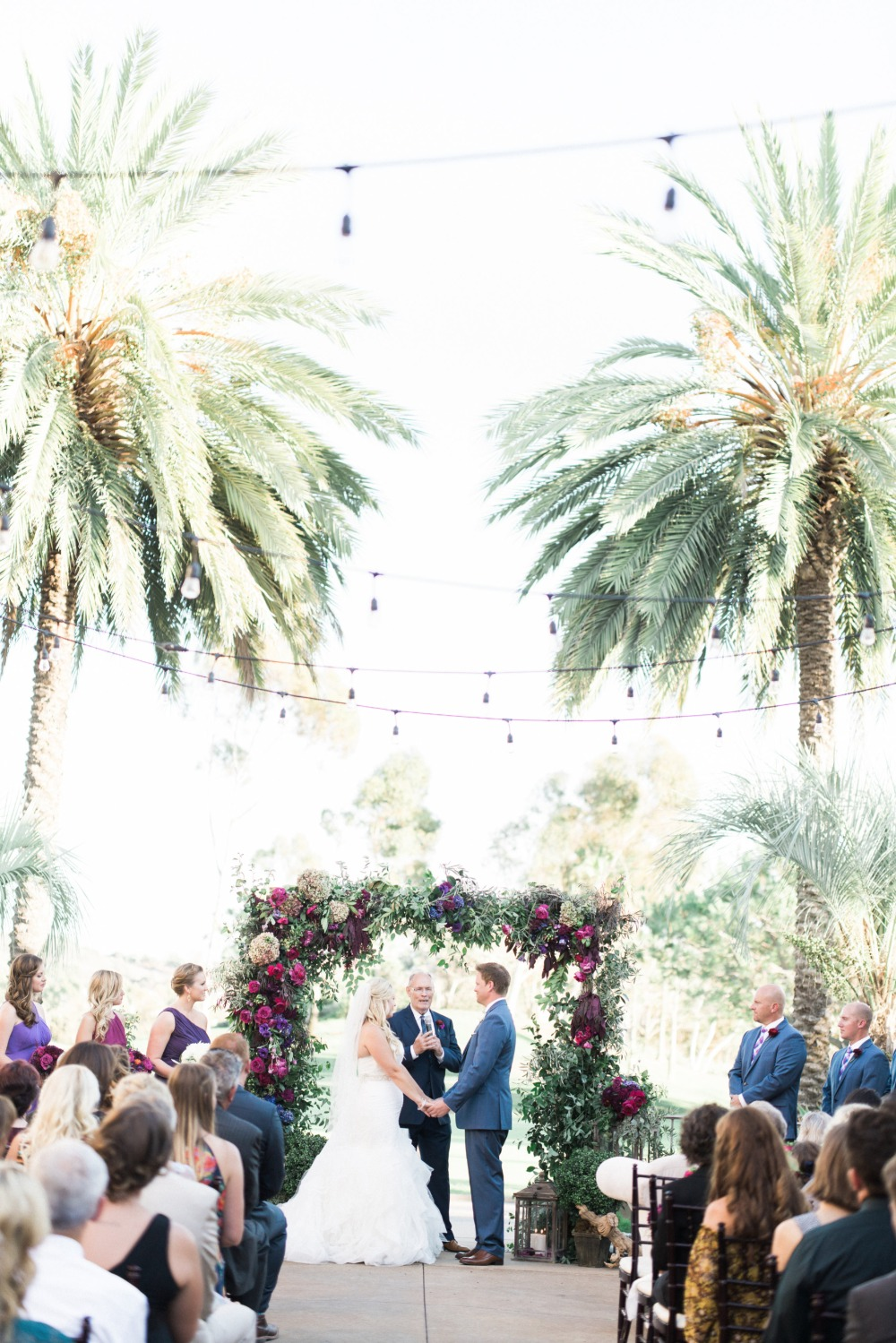 Beautiful outdoor ceremony in California