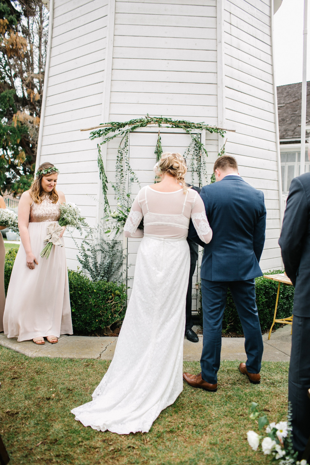 sweet and simple outdoor wedding ceremony