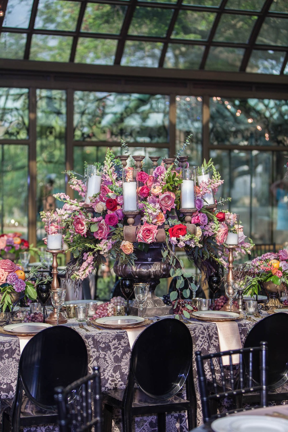 Giant floral centerpiece