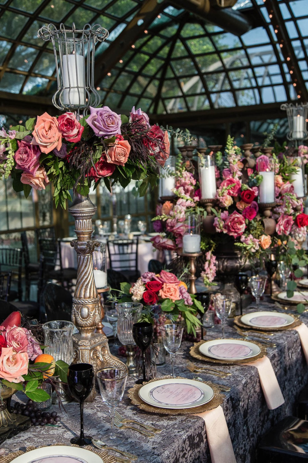 Tall and elegant centerpieces
