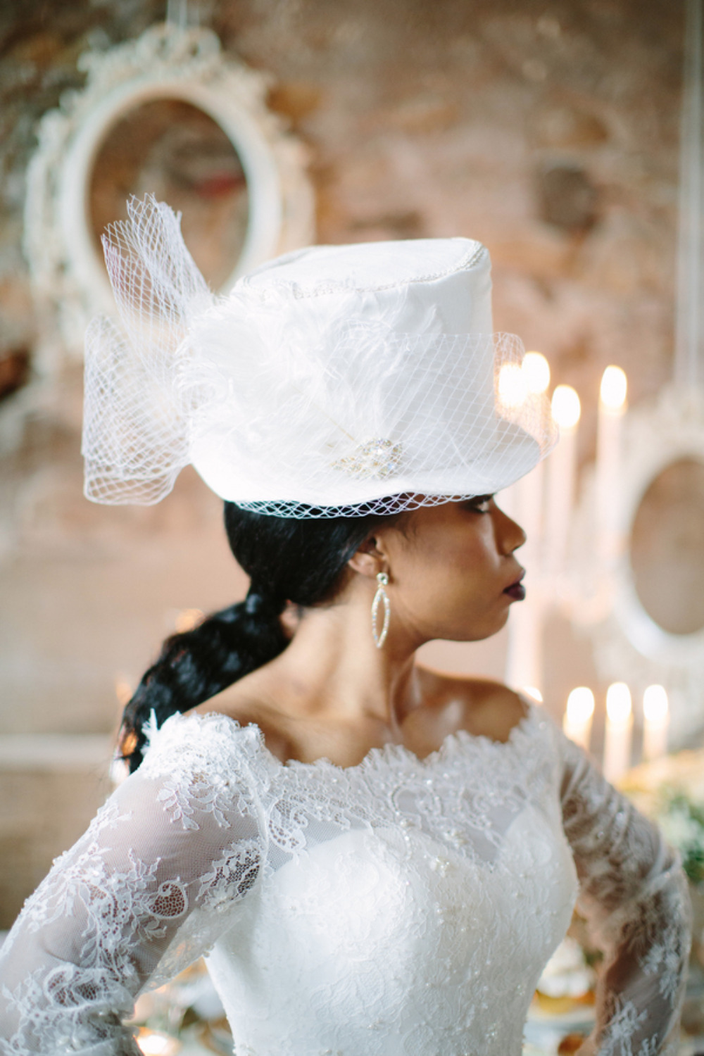 vintage wedding top hat