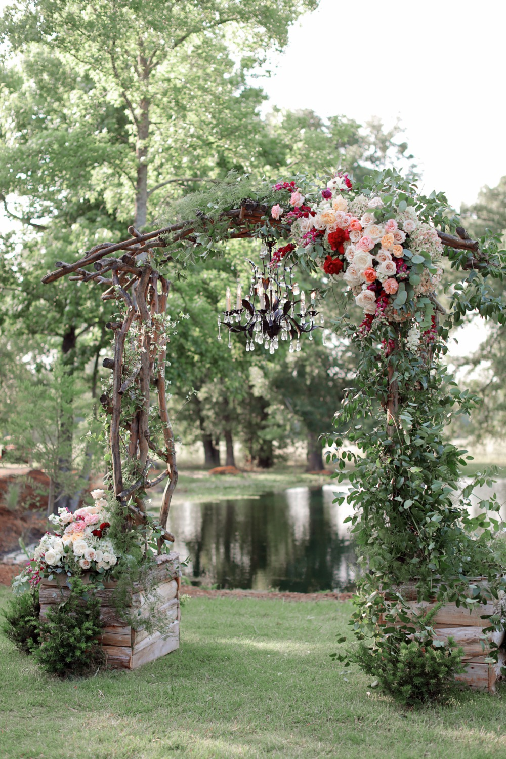 Giant Fl Arbor With Chandelier