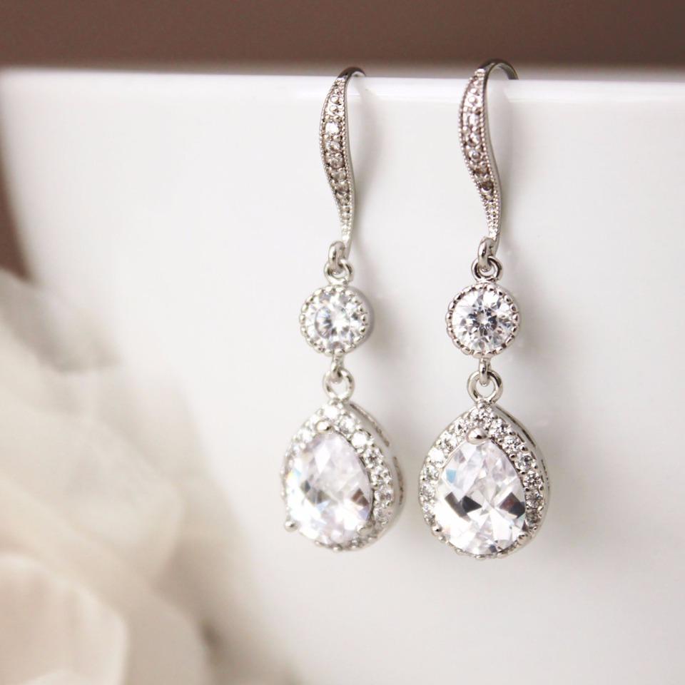 Tear drop earings