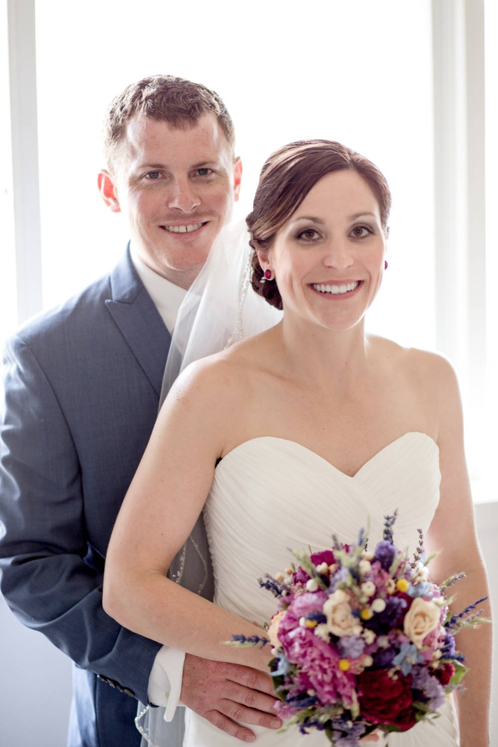 cute and classic bride and groom