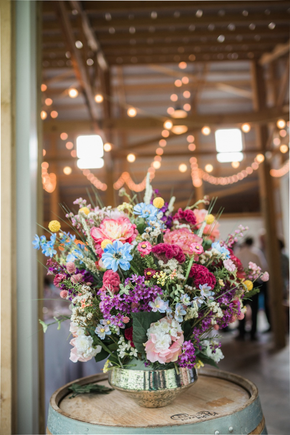 assorted wedding flowers for boho chic wedding decor