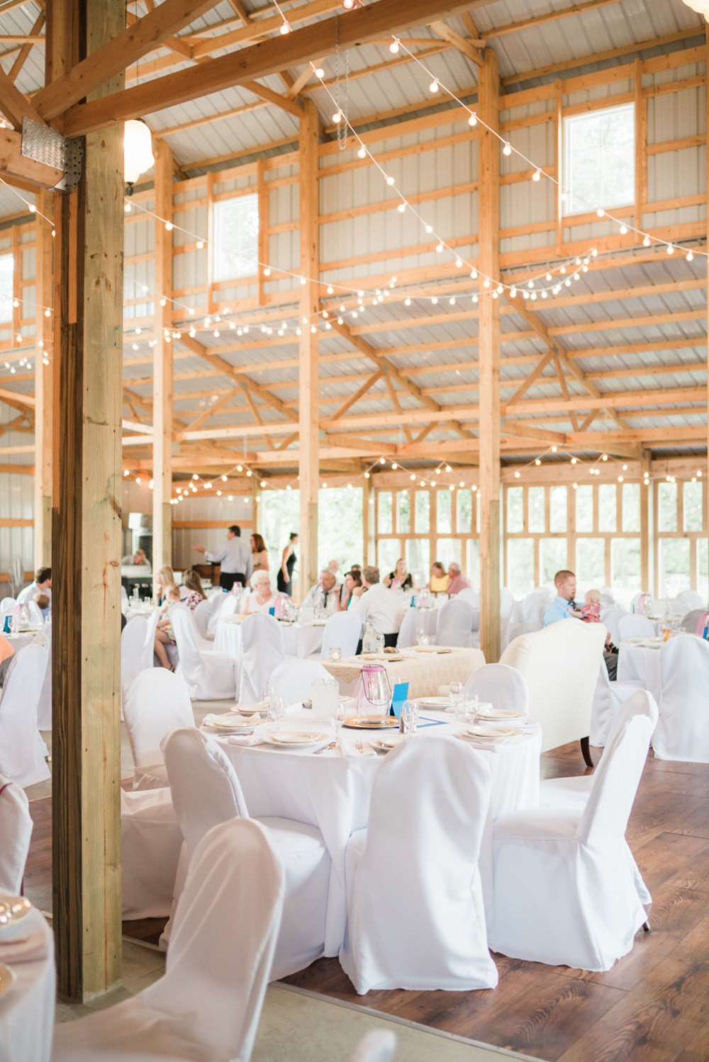 rustic venue with a chic wedding decor