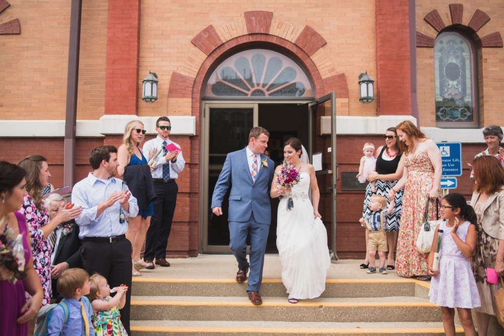 newly weds and ceremony exit
