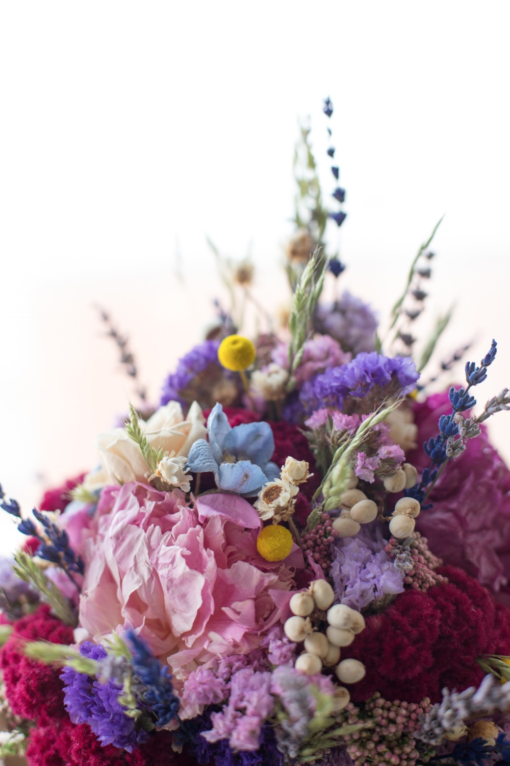 wild flower style wedding bouquet