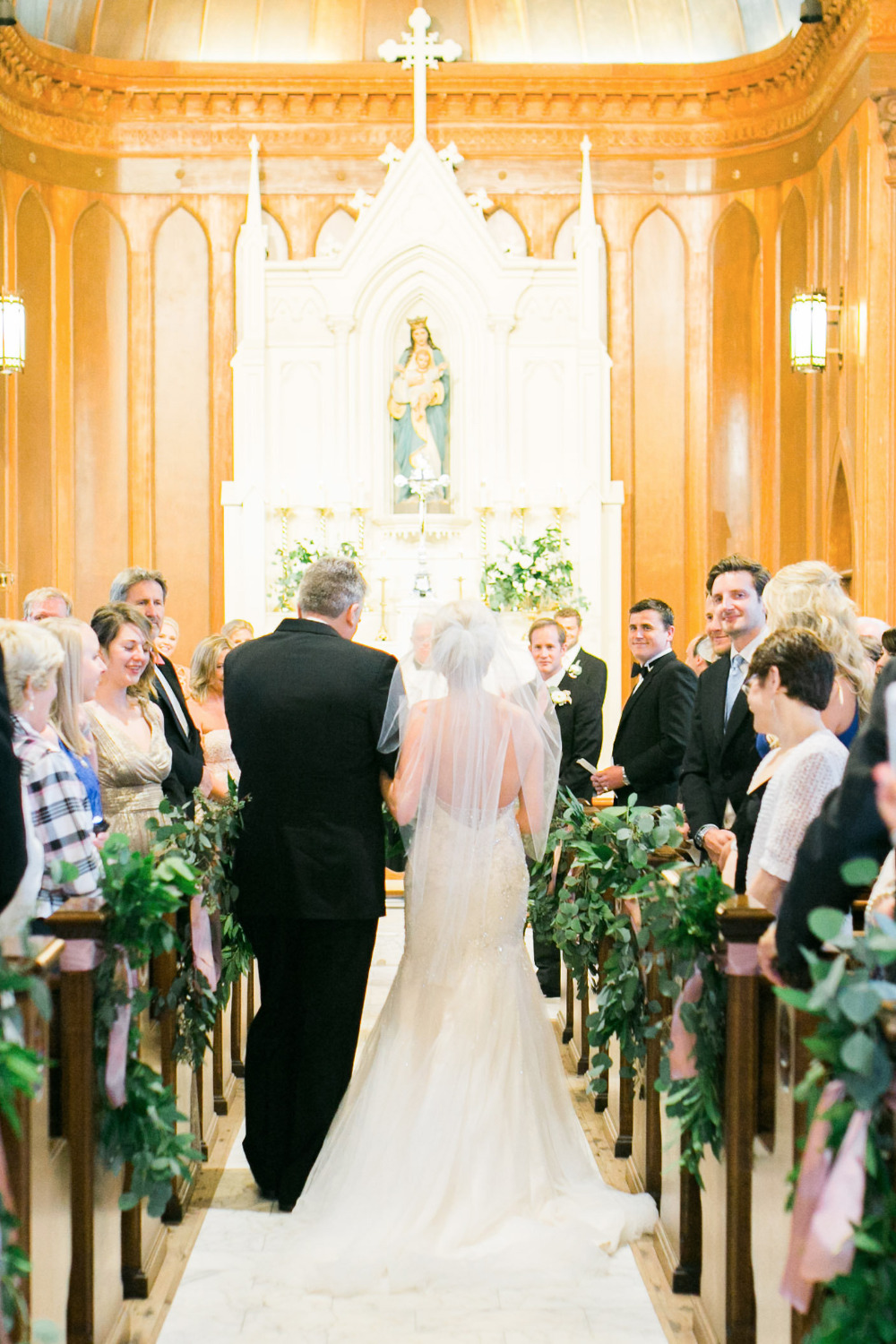 wedding ceremony in a church chapel