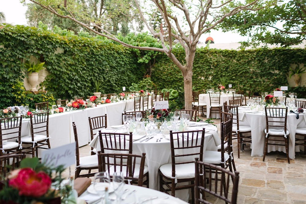 Garden courtyard outdoor reception
