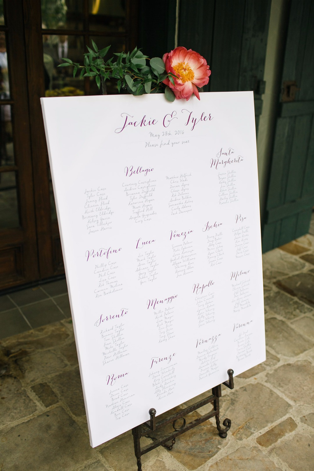 Simple seating chart idea