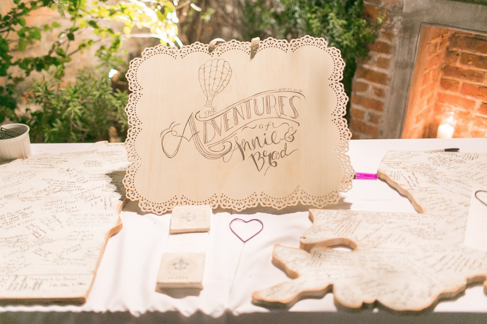 The adventures of Annie and Brad wedding sign