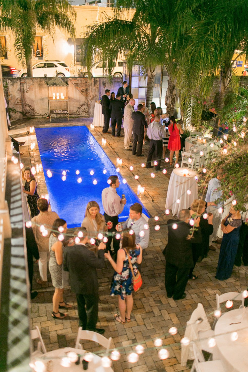 bistro lights for your wedding reception