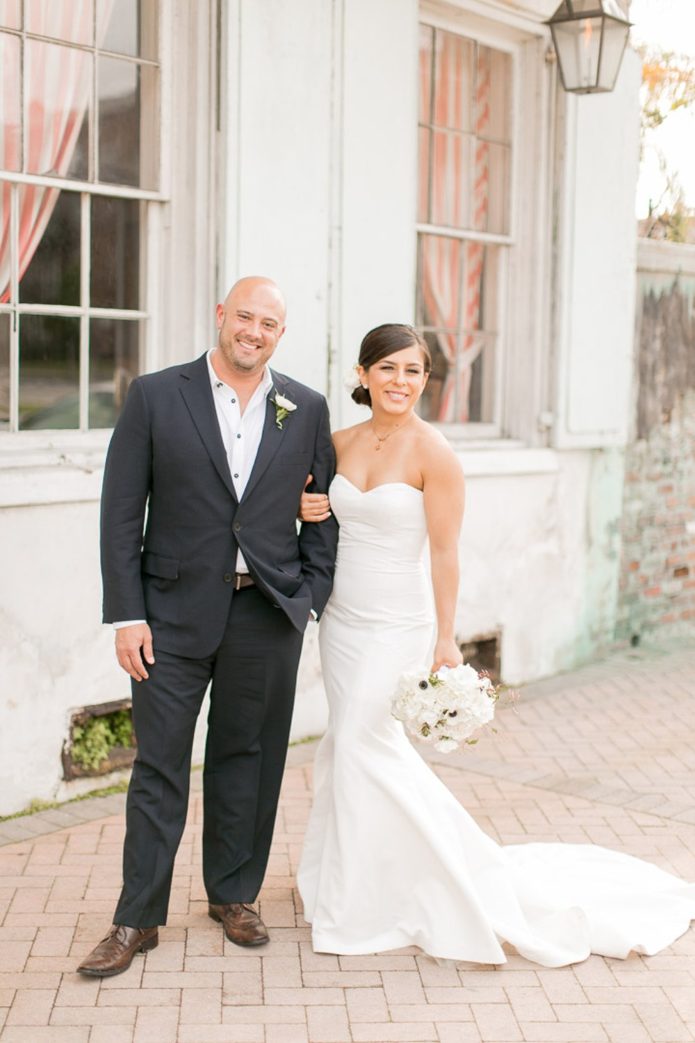 modern and chic bride and groom