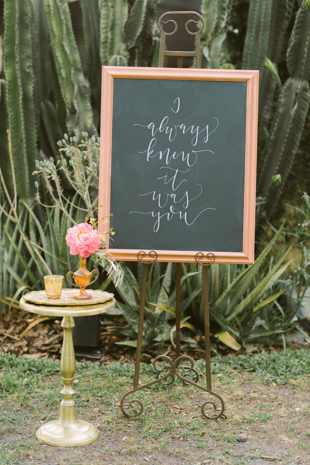 i always knew it was you romantic wedding sign
