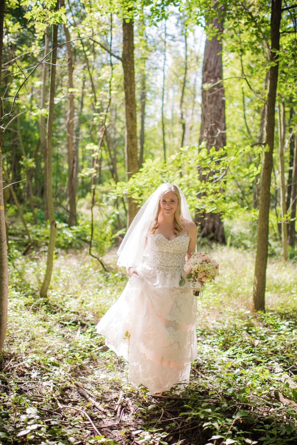 Woodsy bridal portrait idea