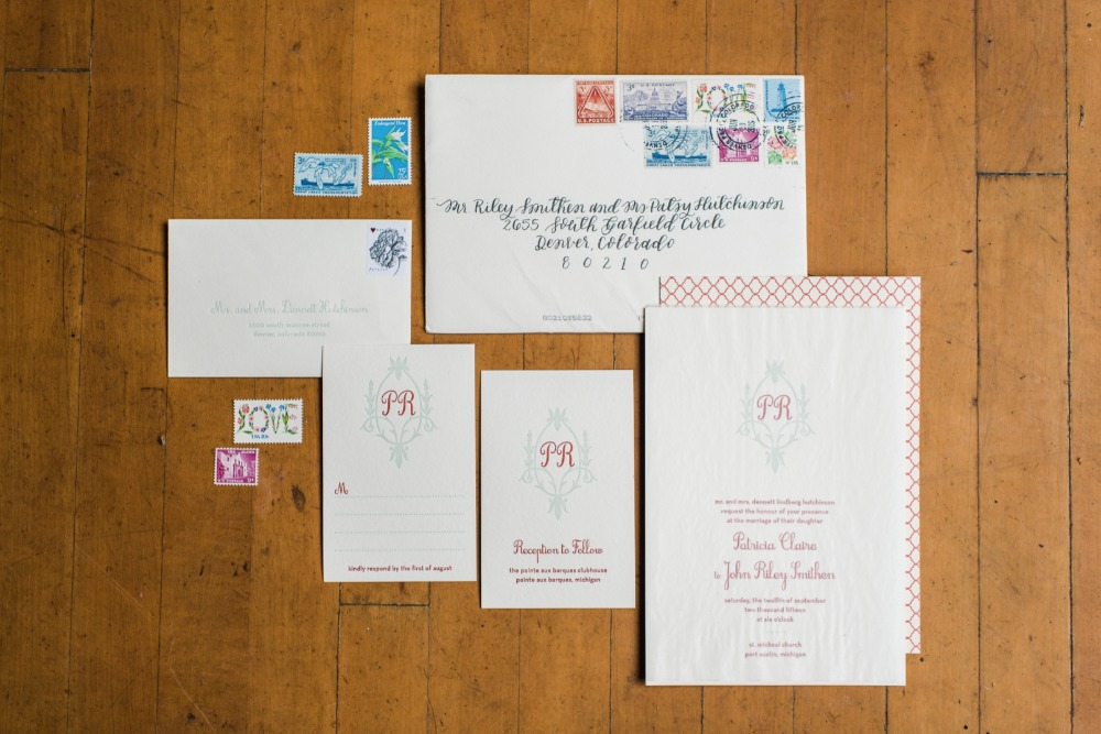 Preppy wedding invites