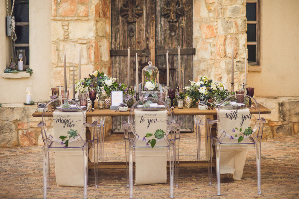 modern clear wedding chairs with sayings