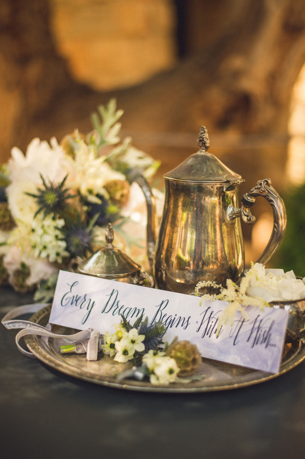 every dream begins with a wish wedding sign