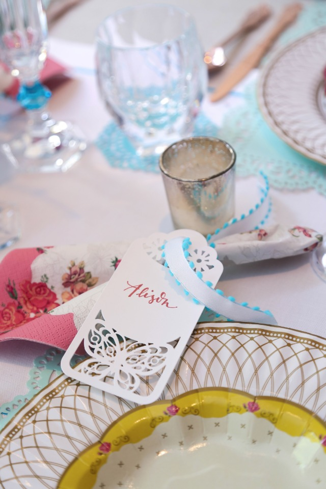 laser cut paper place cards