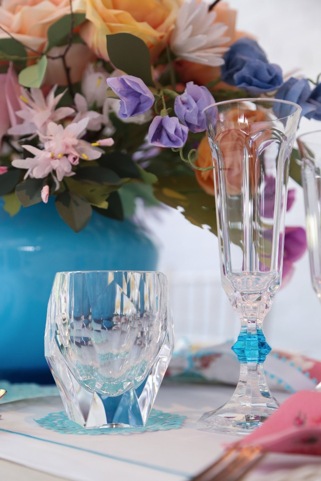 faux crystal glasses made out of plastic