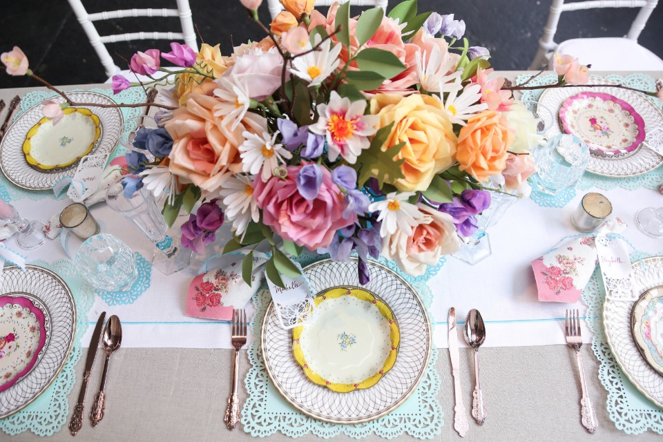paper flowers and paper plates that could fool anyone