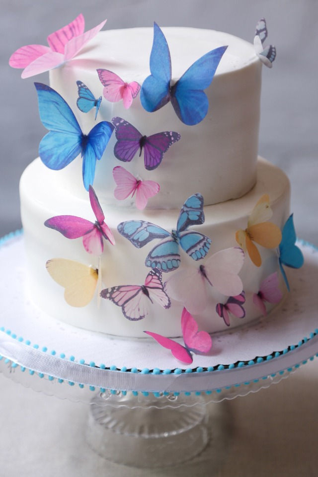 edible paper butterfly cake