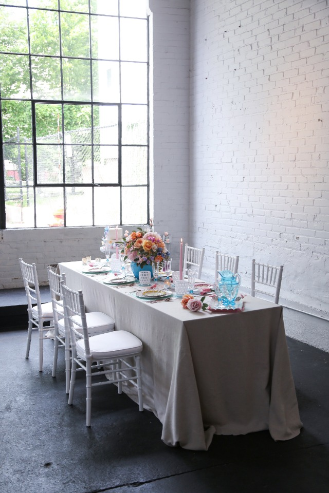 industrial chic wedding table idea