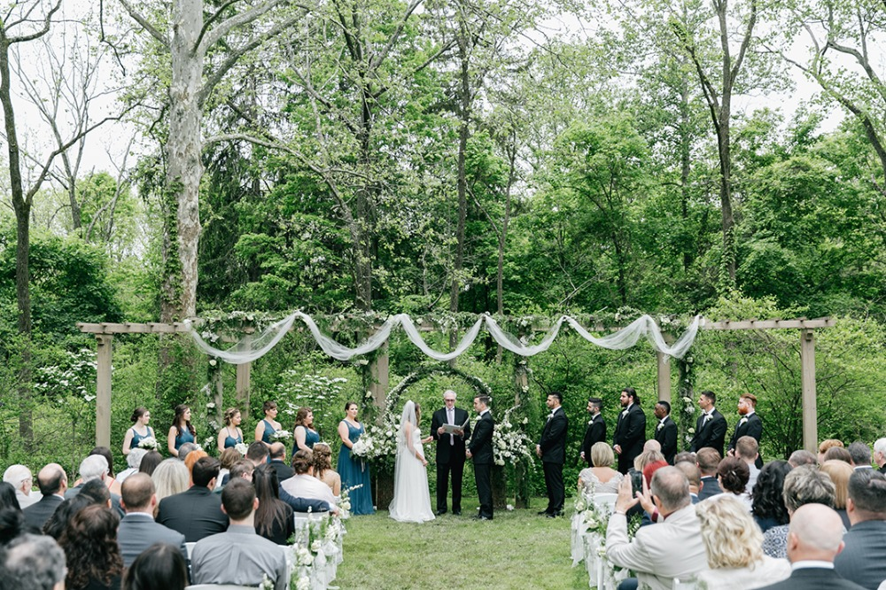 Organic white and green wedding