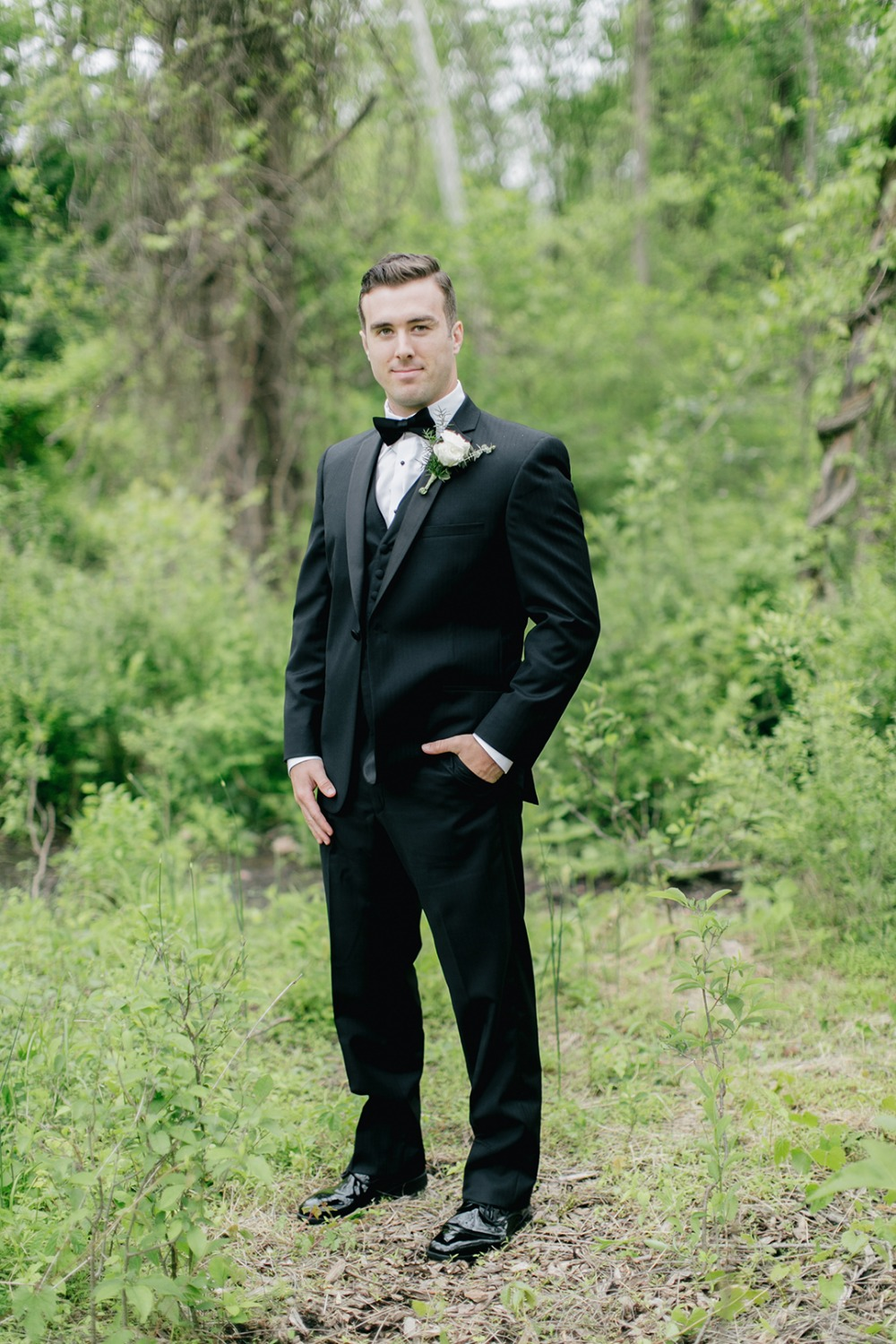 Handsome groom look