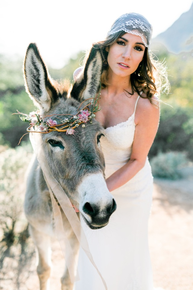bridal burro and boho bride