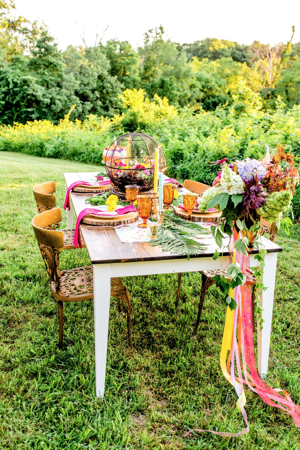 Boho tablescape idea