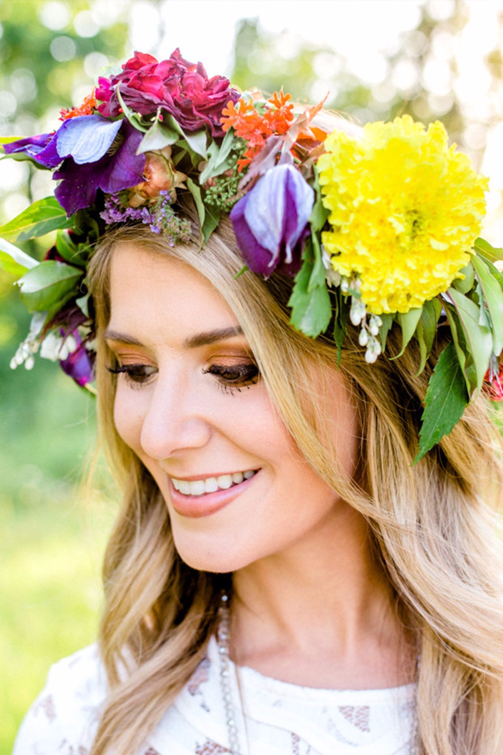 Cheerful floral crown