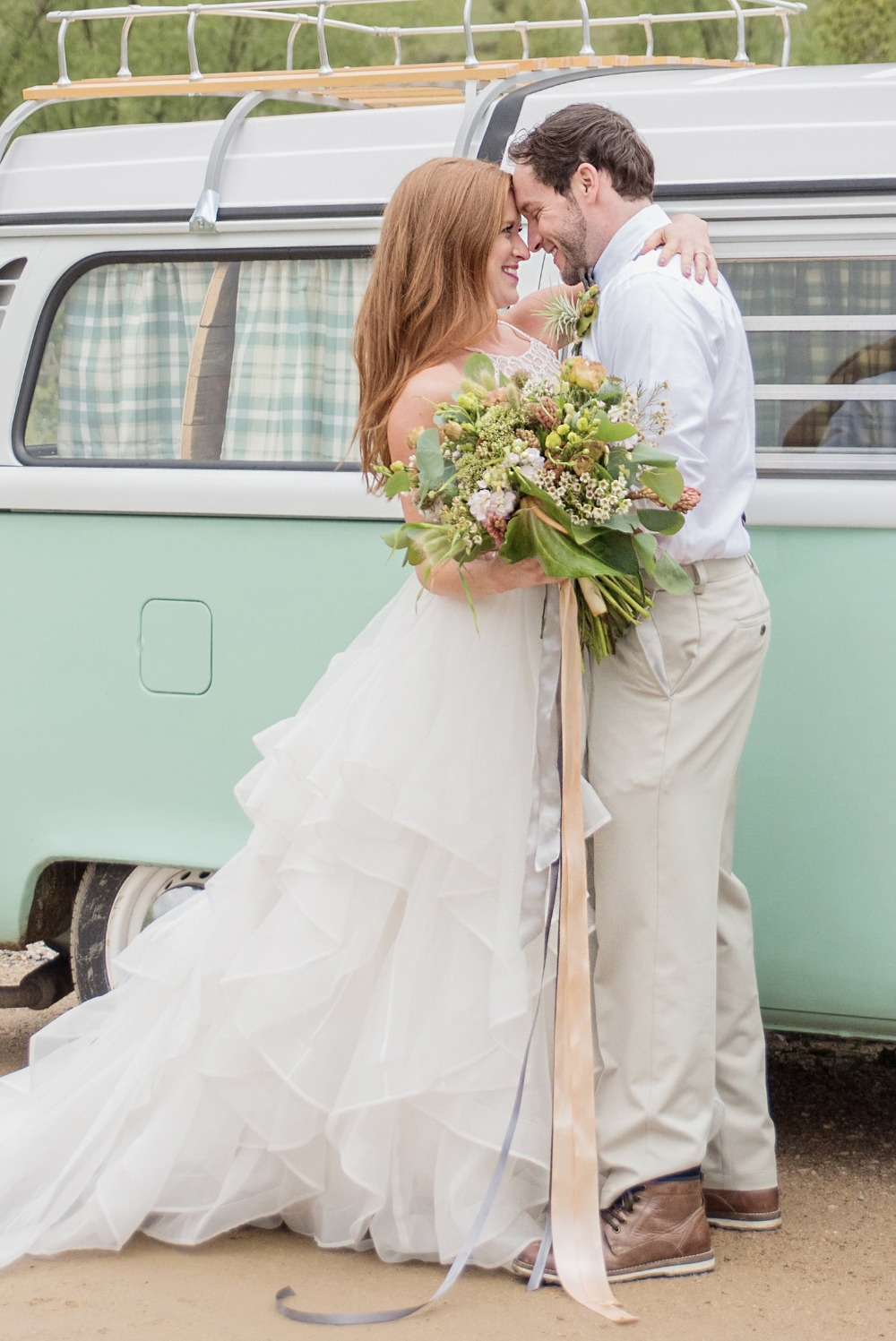 Romantic VW bus wedding inspiration