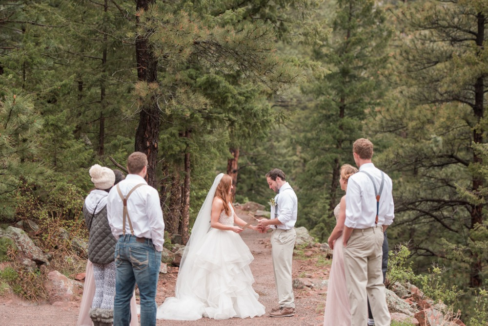 Woodsy elopement idea