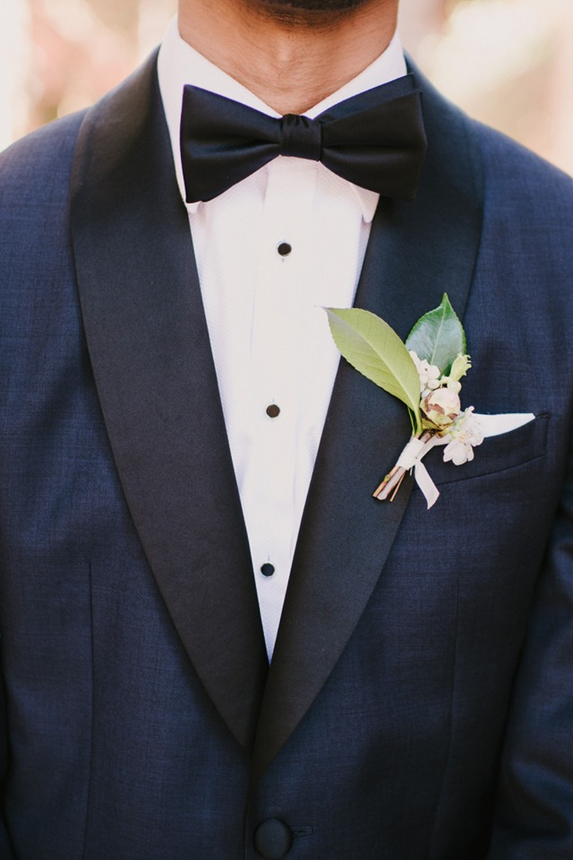 navy and black groom suit