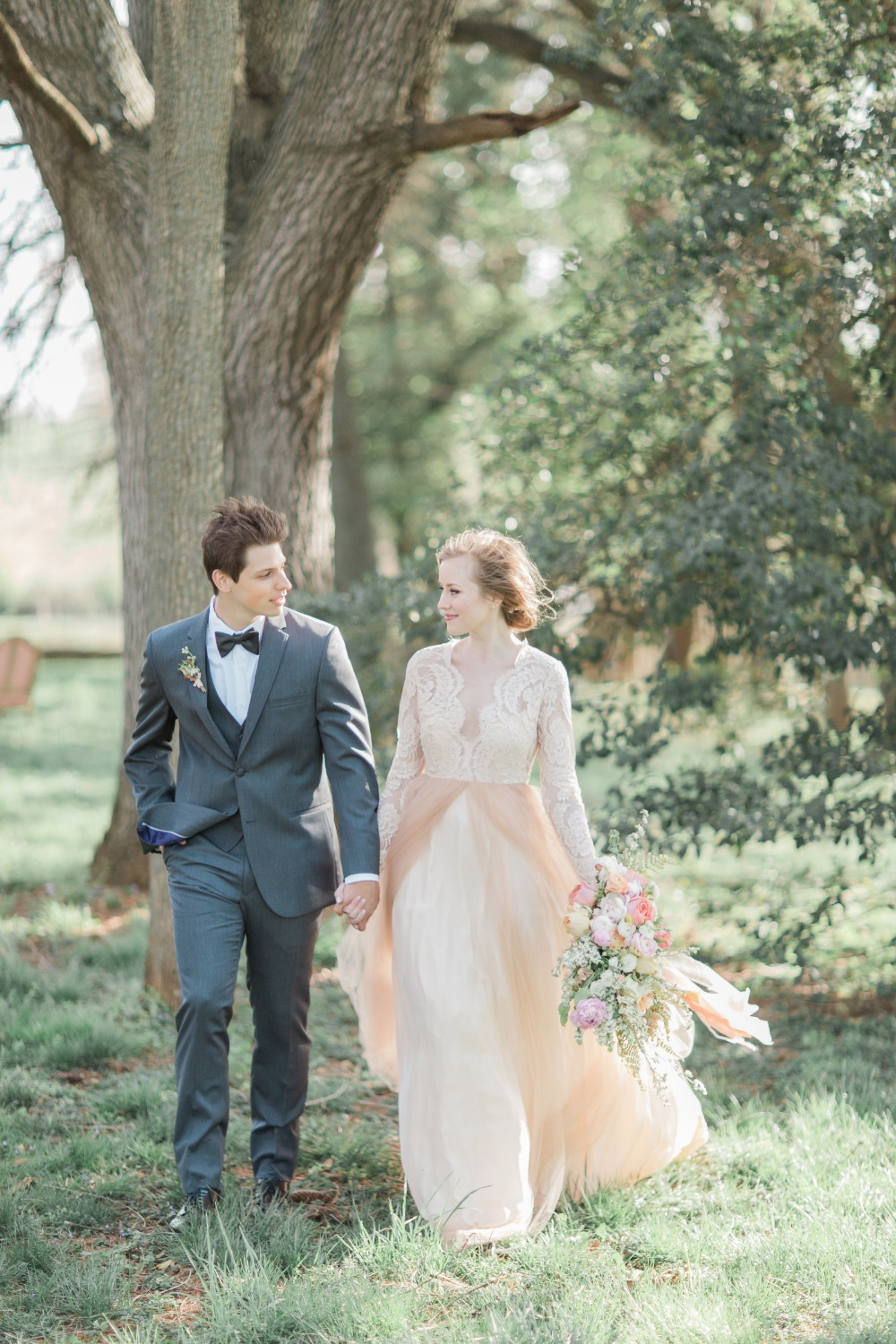 Blush and grey wedding style