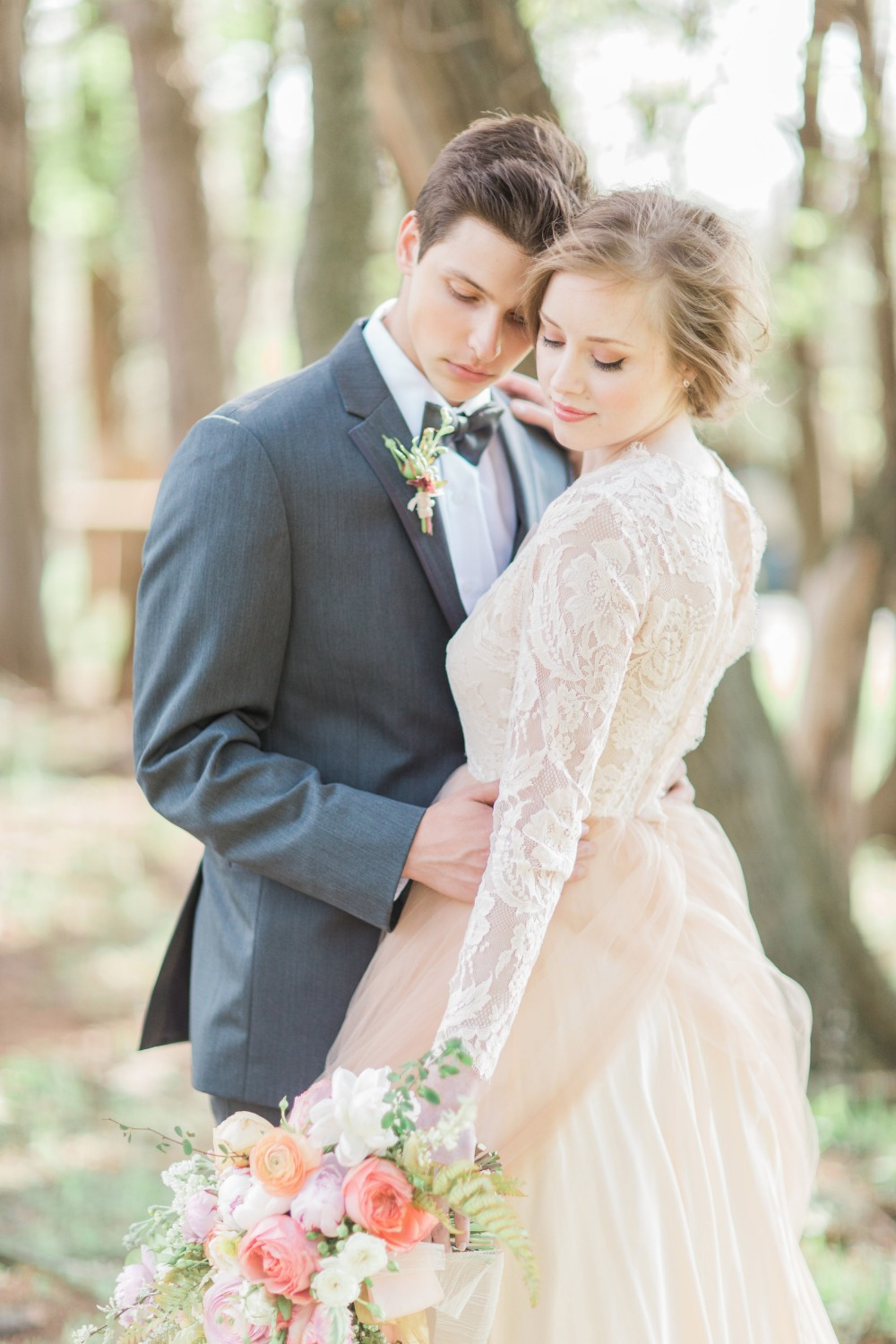 Gorgeous wedding portrait