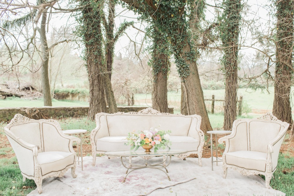 Outdoor wedding seating area idea