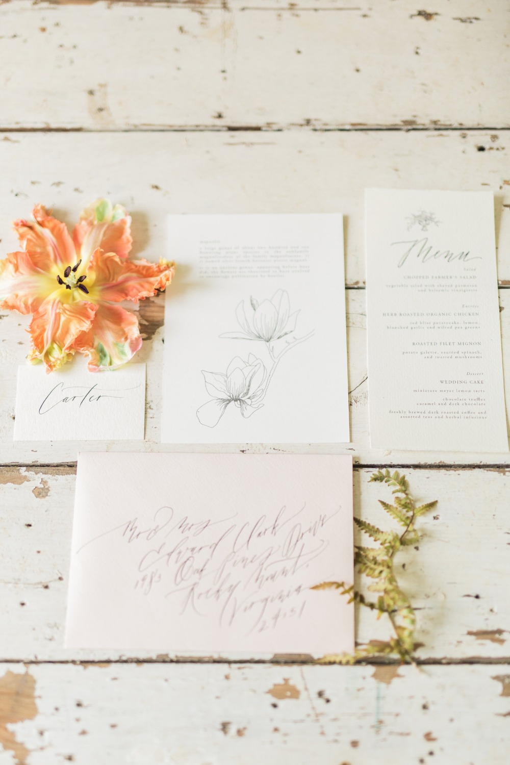 Simple and elegant wedding paper