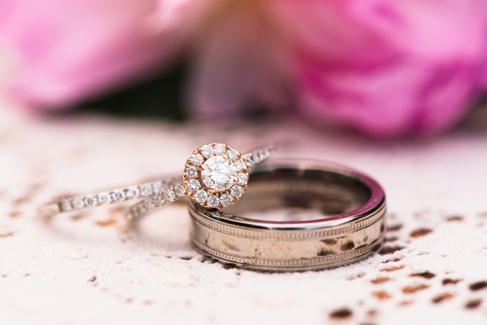 diamond engagement ring and bands
