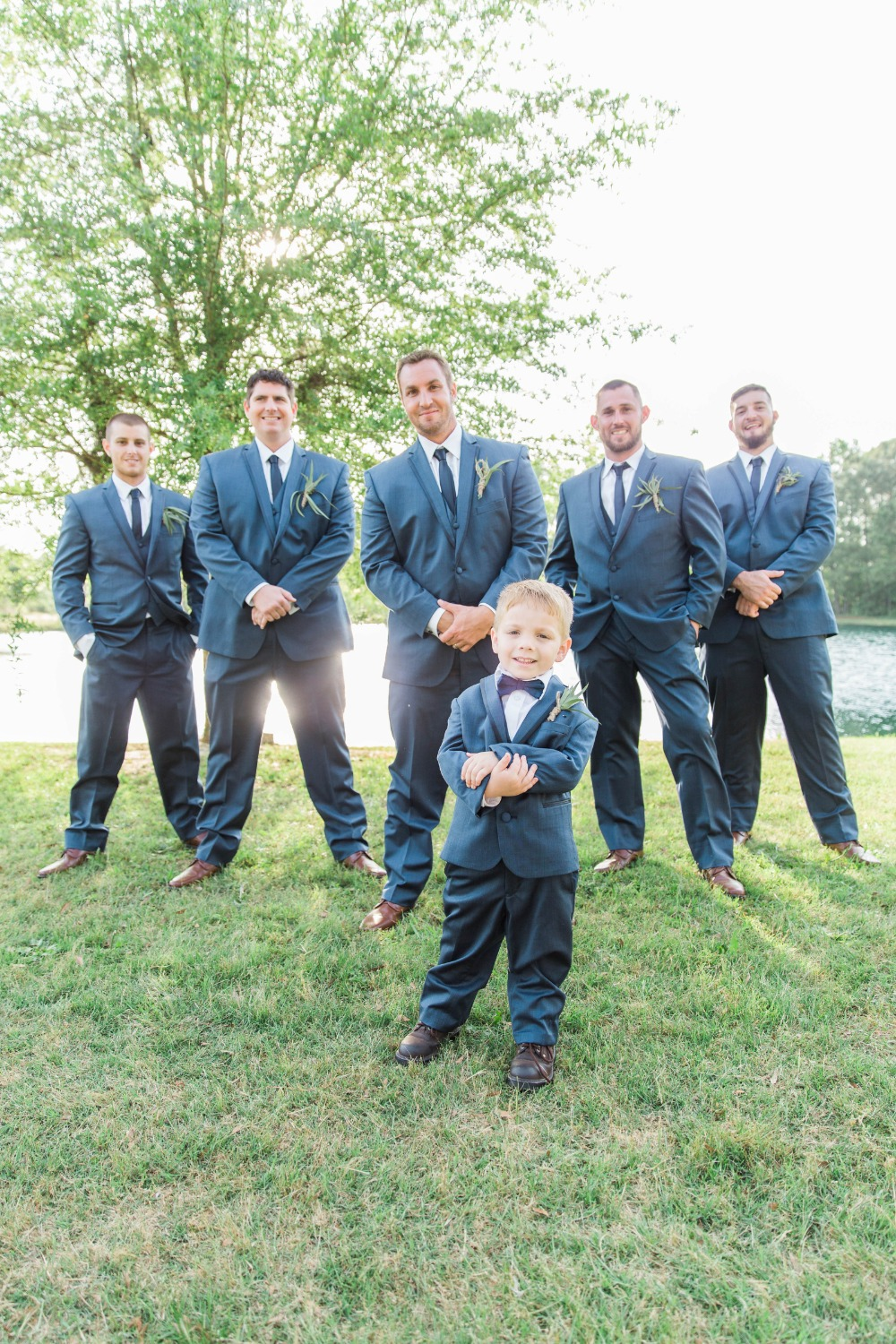 Groomsmen in Navy