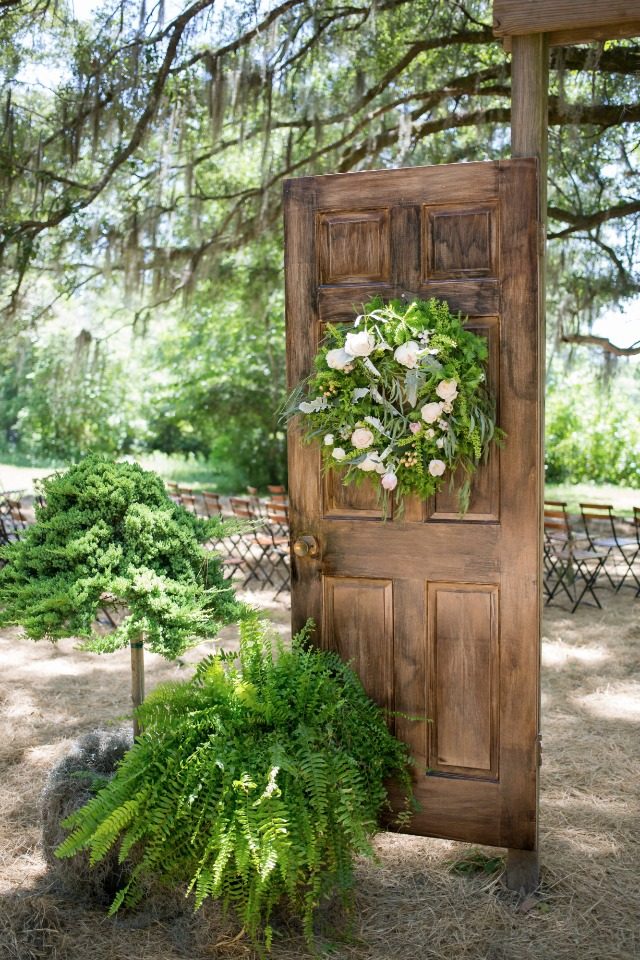 ceremony doorway built by family of the bride