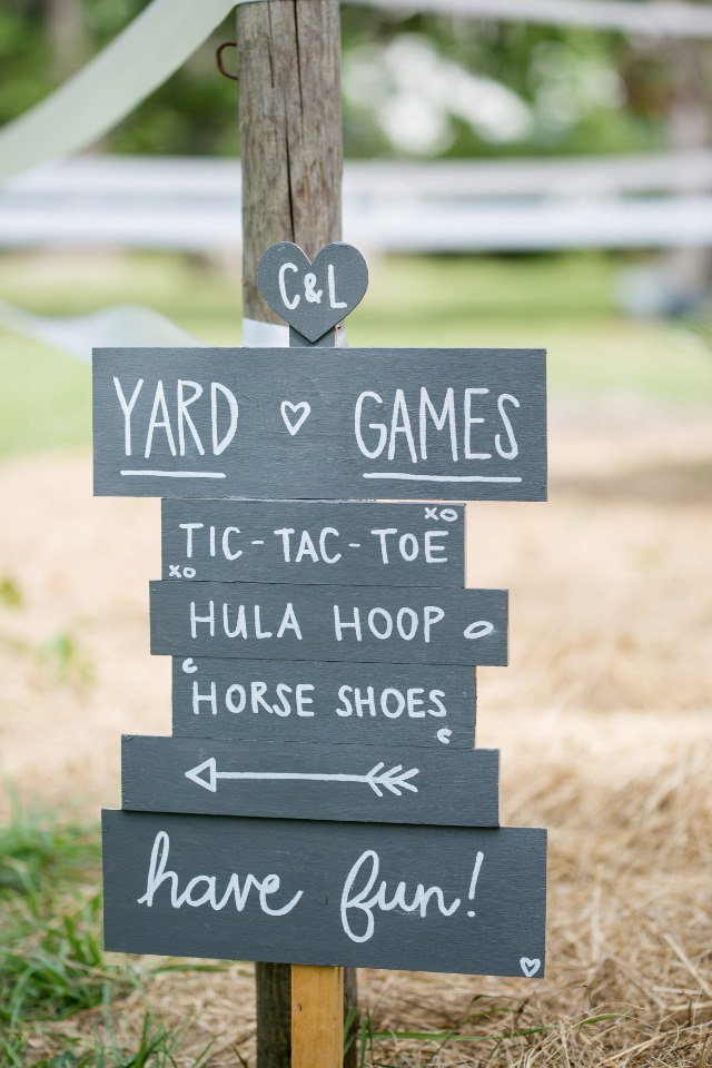 reception games sign