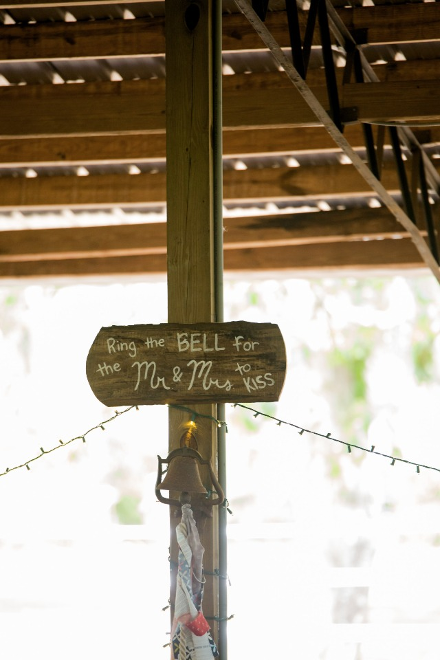ring the bell for a kiss reception tradition