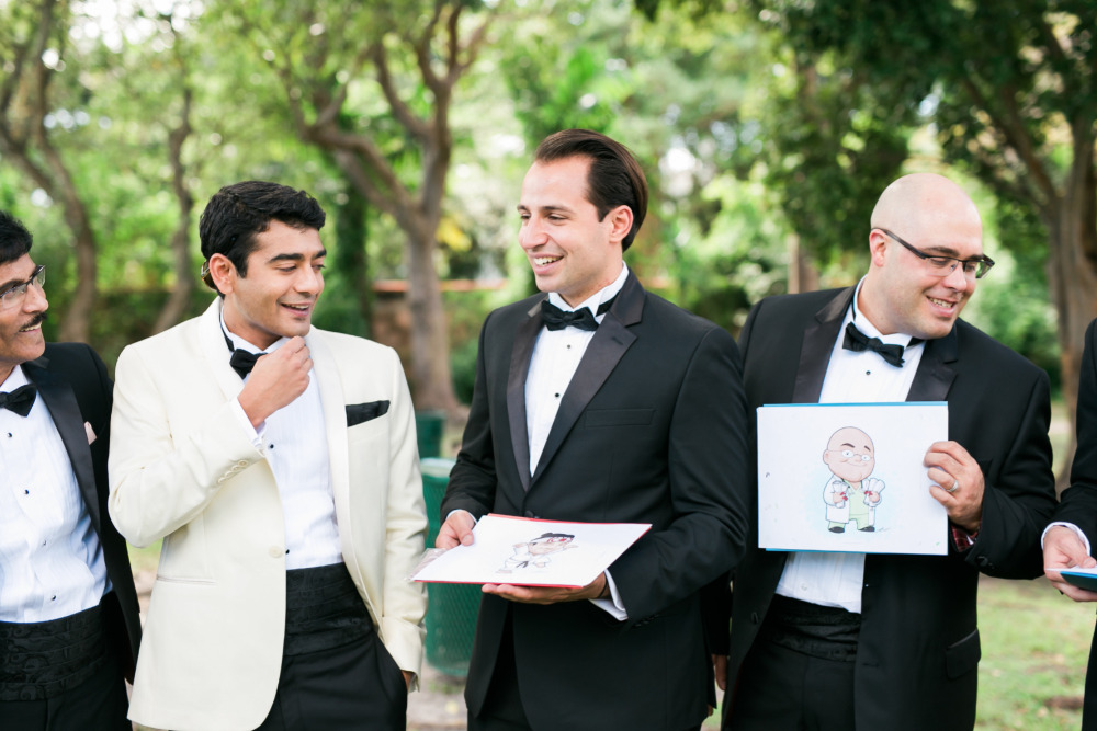 groomsmen caricature gifts