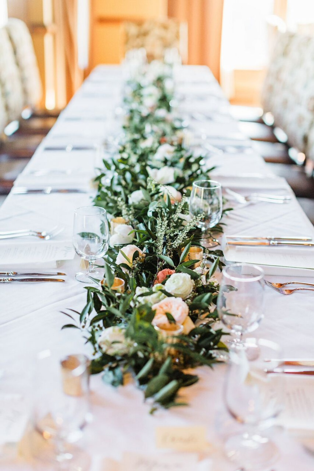 Low floral centerpiece idea
