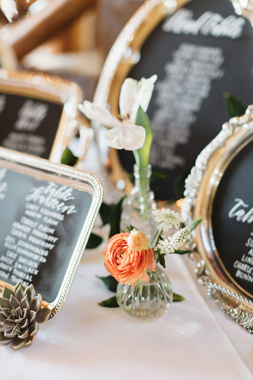 Silver trays seating charts