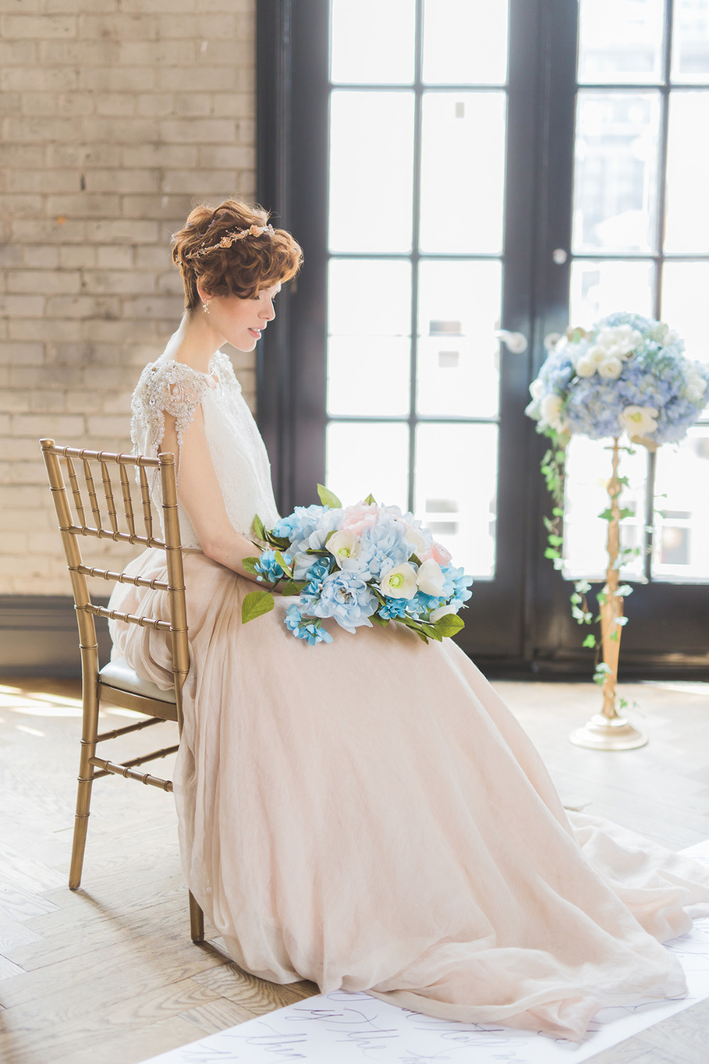 romantic and playful wedding bridal look